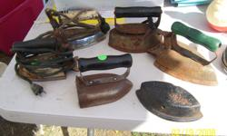 I have 6 old Irons that I am selling for $5.00 each.