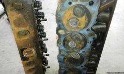 1973 Set of BBC Large Oval Port Heads. From 427 Tall Deck Engine. Heads have sodium filled exhaust valves. Engine had recently been rebuilt. Valves and seats look good. Also have Forged Steel Crank, rods, etc. from the tall deck