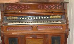 NewlyREDUCED Price~ Antique 1889 Western Cottage Pump Organ; Ottawa, ILL