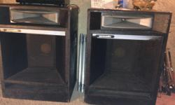 I have 2 - acoustic p.a speakers for sale great shape 18 speakers w/horns 125.00 Obo, contactpaul 206-355-2815