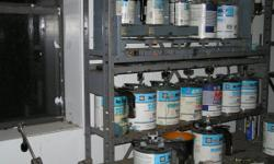 NAPA Martin Senour paint mixing system. Mixing stations for quarts and gallons, electric double shaker (quarts and gallons), weighing balance, microfiche, color chips and books, some paint included. $250 for all. Face to face cash sale
