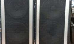 These Peavy Modle #121OHS enclosure'swork great used them as Mains many times. Great for your smaller rooms or your Jam Room. they sound Great.