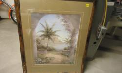 picture is in good condition, scratches at the bottom on the frame, this is still an overall nice pic if your into palms.