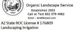 Organic landscape Service 602 579 4982 FREE phone text estimate AZ Licensed Bonded Insured, Roc # 176809 TREES Tree Removal Stump