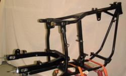 new Paughco FLH frame,like new.started to build, but to many projects.fits shovel and evo motors,4-speed trans.Swing arm and bearings included.swing arm is mounted.never been title,has certificate of orgin.serious people only.live in indy.