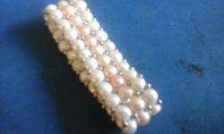 Wear. this pearl Bracelet at a dinner party eveing out wedding anniversary Engagement prom fashion statement