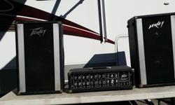 """Massive Price Drop!!! Peavey Standard PA- Mixer Amp Model 260H 400 watts Output: (2) 130Watts 4 ohms 1/4 inch pin connectors Inputs: (4) x 2 Speaker Cable: (2) 25' 1/4"""" pin connector Microphone: Dynamic Microphone with 6 ' cord w/1/4"""" connector Mike"""