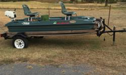 10 ft. Pelican boat, Scamp trailer and Johnson motor We used it one time.
