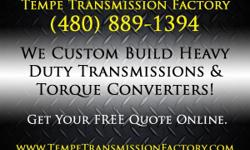 Tempe Transmission Factory Under New Management!  Come in and check us out! 1115 W. Fairmont Drive, Tempe, AZ Call for Prices ~ Local (480)889-1394  Toll Free (888)299-4022 www.TempeTransmissionFactory.com   Acura Transmissions Tempe, Ford
