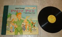 Walt's 78 RPM Record w/Fold-Out Cover & Full Story ! Pan/Wendy/Hook/Tinkerbell Are All Here In Color !! Vinyl Is Excellent & Cover Is Fairly Good (1 loose center page) !!! See All Our Rare/Nice Items Available Here & Also At