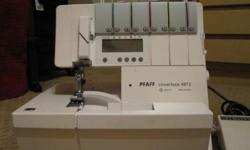 PFAFF 4872 Computerized Serger. This machine is in excellent working condition. Hardly used. It was cleaned & serviced. Comes with the following features: 5/4/3/2 Thread Options, Adjustable WidthControl, Differential Feed,