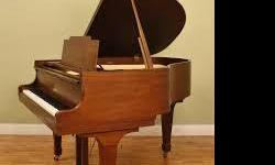 """3 used grand pianos on the floor of Barkersmusic.com 1 5-3"""" Kawia polish walnut 2 5-6"""" polished ebony baldwin 6' Sherman Clay ivory All sales include tuning and delivery To see stop by 3125 #F McHenery Ave or call 209-526-0347"""