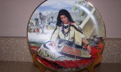 Noble American Indian Women Sacajawea by David Wright Plate No 1211C 1989 HC