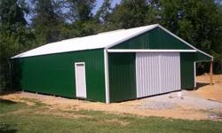 Here are some of our standard barns 24x24x10 24x30x10 30x30x10 30x40x10 30x50x10 Lots of other sizes available. All barns comes with 1 service door a sliding door or a frame out for a garage door. All buildings come with a 1 year construction warranty