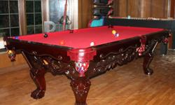 like new used very little comes with everything to play pool have fun