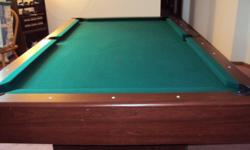 Seven foot playing surface. Very good condition. Must pickup.
