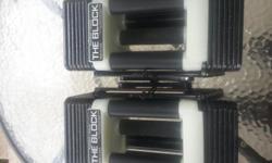 Adjustable dumbells, 45 lbs per hand. Call, emailor text 317-488-9346