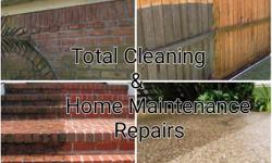 Total Cleaning & Home Maintenance Repairs Powerwashing Services Driveways, Walkways, Patio's, Decks,Wood Fencing, Brick,Masonry, Stone, Siding, Home Gutters & Down Spouts RV's Mobile Homes Ect.... I Pressure Wash at High and Low Pressure For All Surfaces