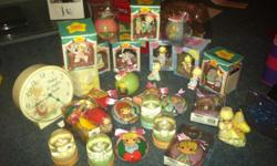 I have a huge lot of Precious moments stuff. 23 Christmas Ornaments, 4 snow globes 1 clock 1 candle 16 Precious Beanies(all new & most with tags)--not pictured ALL has been well taken care of. I just want rid of it & someone could resale this stuff easily