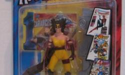 Moving to Peru, everything must go. Collection of 4 Previews Exclusive Action Figures from 1999. First Appearances of Wild Thing, American Dream, Spider-Girl, & Stinger. All in mint condition with very minor card damage. $50 for all 4.