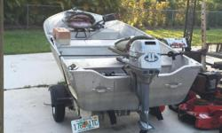 I have a 12 foot aluminum boat (prince craft) and trailer and motor for sale.  Clean title.  Boat can be seen in Fort Pierce.  Text me if interested
