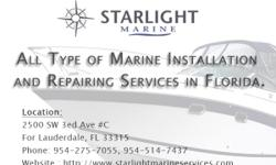 Industrial Marine and boat repairing service. Starlight marine are professional and specialize in ramps, swim decks, thruster and stabilizer installation in Fort Lauderdale, FL List of our Insulation Services ? Thruster Motors ? Stabilizer Actuators ?