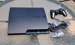 I AM SELLING A PS3 SLIM 250GB FOR $290 OBO. THE FOLLOWING THINGS ARE INCLUDED IN THIS, PS3 SLIM CONSOLE 250GB AV CABLE AC POWER CABLE USB CONTROL CABLE SIXAXIS DUALSHOCK 3 CONTROLS MLB THE SHOW 2010 RESISTANCE FOM ON HARDDRIVE BATTLE: LA METAL SLUG 4