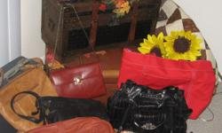 Wide variety of purse, various prices. Name brands and leather. Best way to reach me is via phone. To view large inventory of purses call to see. 561-688-3730 Straw purses $10.00