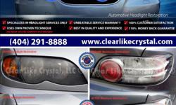 ***WE RESTORE, NOT JUST CLEAN! - Atlanta guaranteed and warranted headlight restoration and repair service with 2Years/24K Miles warranty*** Every Headlight Restoration process differ. Depending on cars make/model/condition. Don't settle for cheap price,