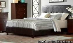 I have a new queen dark brown modern leather low profile bed without mattress left over from a interior designs job for $200.00. Free delivery within 15 miles of Chamblee, GA. I can be reached via text or phone at 678-979-7046