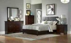 If the ad is still posted its still available. !! I have a new low profile modern brown leather queen bed without mattress, left from an interior designs job. Bed look just like the factory picture but is new in the original factory box. For $230.00 with
