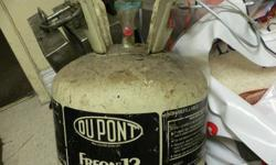 DU PONT 30LBS CAN OF R-12 FREON,, NEW ,, NOT RECYCLED,,