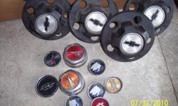 "1960 s 1970 s 1980 s Chevy Tk & Van Rally Wheel Center Caps (Black Plastic) 5 lug 5"" $10.00 ea. Some Classic Car Hubcaps $20.00ea, 1972 1979 Chilton Repair Manual $18.00.1965 1966 Chevy SS 14"" Hubcaps $120.00Set, 1953 1954 1955 Olds 15"""