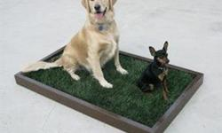 Location: Los Angeles and Orange County Our Indoor Dog Potty Box is filled with NATURAL dog potty grass and every two weeks our service will deliver fresh new grass for the box to your door. We deliver in Los Angeles and Orange County. Small Potty