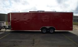 THE EXTRA OPTIONS INCLUDED IN THIS TRAILER INCLUDE: 1.) COLOR IS RED 2.) RTP FLOOR 3.) RTP RAMP 4.) RTP RAMP FLAP 5.) SPARE TIRE MOUNT 6.) SPARE TIRE 7.) 5.2K AXLES