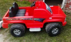 Kids red powerwheels red truck. Call Debbie 920-606-4841