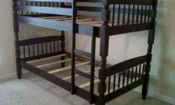 New solid wood bunk bed sets for only $360.00 left over form designers orders. The beds are SOLID WOOD, new un-used, un-damaged, un-open with new 7 inch inner spring mattress with built in bunkie boards. Sold as sets for $360.00 per set with