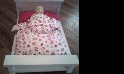 JUST IN TIME FOR CHRISTMAS! DOLL BEDS FOR AMERICAN DOLLS OR ANY OTHER DOLL. TAKING ORDERS NOW. WILL PAINT ANY COLOR. CALL FOR MORE INFORMATION . WILL POST A PICTURE SOON.