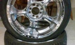 2 Rim's and tires 225 40R 18's 4 lug universal fits big bolt pattern or small bolt pattern,Tires by talon and in good shape.must sell asap to get computer out of pawn shop.great deal call Dale at 530-690-2495