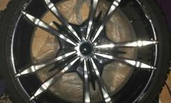 22inch rims 9 holes the tires are like new 500obo call me 424-347-4309.                 Tengo unos rines 22 con llantas casi nuevas 500o