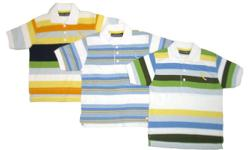 STYLE: 86248 MANUFACTURED BY: ROCAWEAR  Your boy will love the great look and cool comfort of this polo shirt. Perfect for wearing with his favorite jeans, shorts, or twill pants. The colorful variegated horizontal stripes give this polo shirt