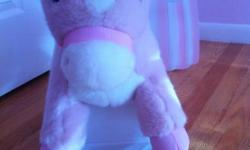 Use it to decorate the room. We had a professional photographer taking pictures with my daughter on it. Beautiful. The Tek Nek Rockin' Rider Pink Pony Talking Plush Rocker will keep your child entertained with its moving mouth and sound effects.