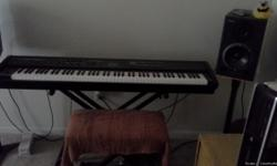 "FOR SALE  Roland RD700SX Digital Stage Piano and 2 Roland DS90 Studio Monitor speakers includes a ""on stage"" piano stand,cables and damper pedal has servicable stool.  Great sound, near mint condition. everything you need to set"