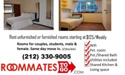 ??? Manhattan rooms have many amenities, near transit, shops, and theater. These rooms are recently renovated. Call 212-330-9005 for room vacancies or click here.