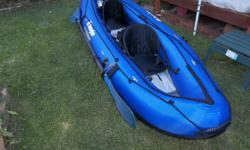 """this 2 Man Rubber Raft Has only been used once it is a Sovylor 10Ft 8"""" please call 8012709506 in Murray area ask for mike"""