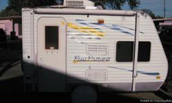 Microwave oven and propane stove, am/fm/cd radio, shower/toilet, queen size bed, additional bunck bed, heater, airconditioner, sink, refrigerator, closet spaces, tv cable ready, awning, evey thinglike new and used only 3-4 times in