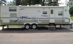 Why choose RV rental Montana this summer for Renting a RV this summer at Flathead Valley Montana. - RV drop off and pick up service at the campsite. Rent out 26' Forest River Sierra - It accommodates 8 people - It has a Toy hauler - Also has a DVD player