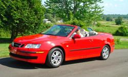SAAB 9-3 2007 red convertible, heated leather, new tires, automatic trans, 62,000 miles, 28 mpg, near excellent condition, always garaged, $8900 or BO 631-6340 Pittsfield