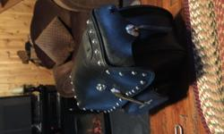 """ROADKROME SADDLEBAGS                       17 3/4"""" X 12"""" X 6"""" with locks $190 Does not come with brackets."""