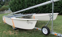 16' Prindle sailboat with trailer,1983 both in great shape, lot of new items, fast and fun to sail